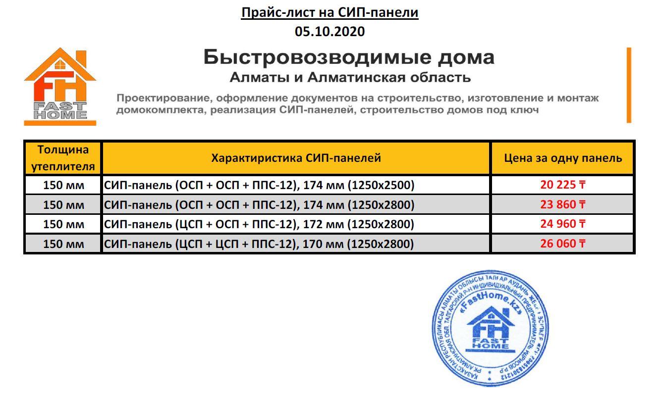 Прайс-лист (обновлён 20.01.2021)