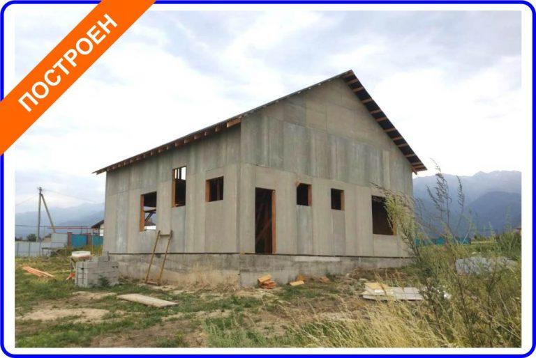 Индивидуальный жилой дом из комбинированных СИП-панелей (ЦСП+ОСП) в Кызылкайрате.
